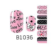 YeManNvYou®14PCS Fashion Lovely Bowknot Nail Art Glitter Sticker B1036