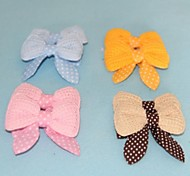 Lovely Dot Pattern Bow Hair Accessories for Pets Dogs (Assorted Colors)