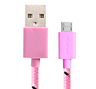 1M 3.28FT USB2.0 to Micro USB2.0 M/M universal charging data cable for Huawei ZTE millet HTC Samsung Android phones
