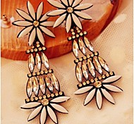 Love Is Your White Daisies Long Pendant Earrings