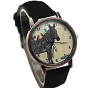 Women's Analog Wrist Watch PU Strap Design Fashion Vintage Zebra Style Quartz Watch (Assorted Colors)