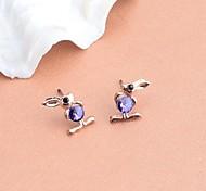 Lureme Fashion Drill  Rabbit Alloy Stud Earrings