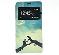 fitin® estojo de couro pu protetor w / Smart Auto-sleep / slot para cartão / stand para sony xperia z3