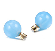 Fashion Jelly Pearl Multicolor Acrylic Stud Earrings (1 Pair)(More Color)
