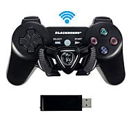 Dual Shock de PC controlador de juegos de carreras equipo cuerno negro