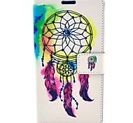 Beautiful Feather Dream Catchers Pattern PU Leather Hard Case with Card Slot for Samsung Galaxy Note 4