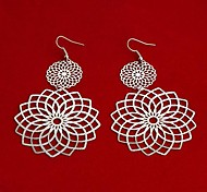 Fashion New Flower Drop Earrings Random Color
