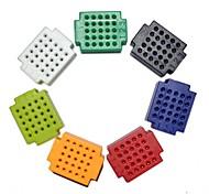 ZY-25 DIY Solderless Assembled 25-Hole Mini Bread Board Test Board - Multi-colored (1 Set)
