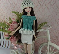 Party & Evening Dresses For Barbie Doll White / Light Green Dresses