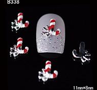 10pcs Beauty Xmas Red Sires 3D Alloy Nail Design DIY Nail Art Decoration