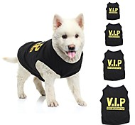 VIP Pet Vest Dog Puppy T Shirt Very Important Pup Black Clothing for Pet Dogs (Assorted Sizes)
