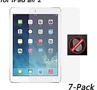 [7-pack] hd anti-huella digital protector de pantalla resistente para ipad aire 2
