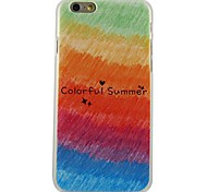 Colorful Summer Pattern Plastic Hard Back Cover for iPhone 6