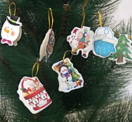 12Pcs Message Cards Christmas Tree's Decoration(Random Pictures)