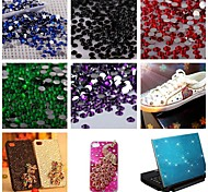5000PCS Flatback Resin Gems 3mm Handmade DIY Craft Material/Clothing Accessories(Assorted Color)