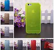 твердый цветной образец силиконовый чехол для iPhone 6 / 6с (ассорти цветов)