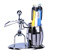 FanJiuShi ® Art  Metal Pen Container House Furnishing Office Desk Decorations Art Violin Playing