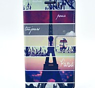 For LG Case Card Holder / with Stand / Flip Case Full Body Case Eiffel Tower Hard PU Leather LG