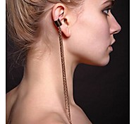 europeu longo borlas algemas de orelha de liga (ouro, preto) (1pc)