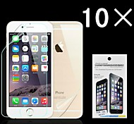 Ultra Smooth Surface Back and Front Screen Protector with Cleaning Cloth for iPhone 6 Plus (10 Pack)