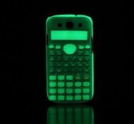 Calculator Pattern Glow in the Dark Hard Case for Samsung Galaxy S3 I9300