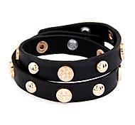 Newest Fashion High quality Leather Rivet Wrap Bracelet