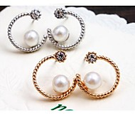 Love Is You Half Moon Pearl Earrings Set Auger Lady Party