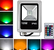 10W LED Flutlichter 1 High Power LED 800 lm RGB Ferngesteuert AC 85-265 V