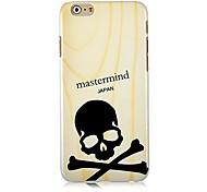 Wood Grain Skulls Pattern Hard Back Case for iPhone 6