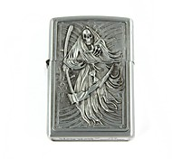 Cool Death Scythe Relievo Kerosene Lighter