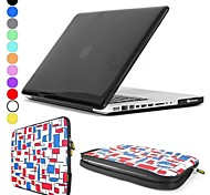 """ENKAY Ultra-thin Crystal Hard Protective PC Full Body Case with Elastic Laptop Sleeve for MacBook Pro 13.3"""" / 15.4"""""""