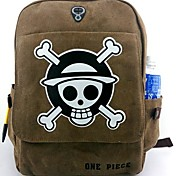 Bag Inspired by One Piece Cosplay Anime Cosplay Accessories Bag / Backpack Brown Canvas / Nylon Male