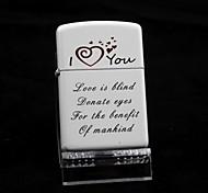 Personalized LOVE White Oil Lighter