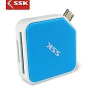 ssk® scrm068 micro usb 2.0 tudo em um leitor de cartão de OTG para sdhc microSDHC