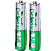 Delipow 1.2V 800mAh AAA Rechargeable Nickel-Cadmium Battery(2pcs)