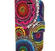 The Kaleidoscope Of Sun Flowers PU Leather Hard Case with Card Slots for Samsung Galaxy Trend Duos S7562