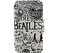 kinston den Beatles-Muster PU-Leder Ganzkörper-Case mit Ständer für Motorola Moto g