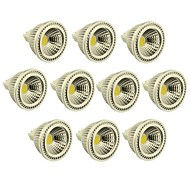 Focos LED Regulable MR16 GU5.3(MR16) 3W 1 COB 270-300 LM Blanco Cálido / Blanco Fresco DC 12 V 10 piezas