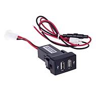12~24V 2.1A Dual USB Car Cigarette Lighter Charger for Ford (Black)