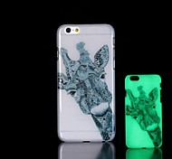 Giraffe Pattern Glow in the Dark Hard Case for iPhone 6