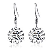Wedding Jewelry 18K Platinum Plated Use Shining Clear Simulated Diamond Waterdrop Earrings