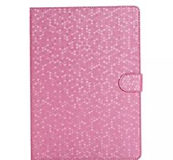 Solid Color Anti-Dust Diamond Grain PU with Stand Auto Sleep and Wake Up  for iPad Air 2 (Assorted Colors)
