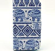 Elefanten-Muster PU Ledertasche mit Kartensteckplatz und stehen für Samsung Galaxy Core 2 g355h / g3558 / g3559