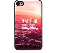 personalisierte Telefonkasten - Lieber Gott Design-Metall-Case für iPhone 4 / 4s