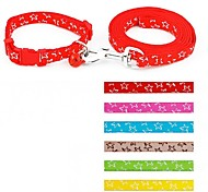 Stars Laced Nylon Small Leashes and Collar Set for Dogs and Cats (assorted colours)