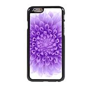 Purple Flower Design Aluminium Hard Case for iPhone 6 Plus