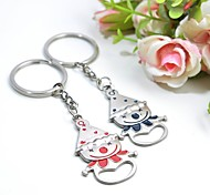 Personalized Engraving Clown Metal Couple Keychain