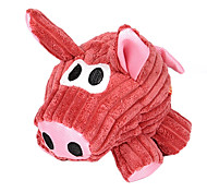 Stripe Pattern Pig Shaped Plush Toy For Pet Dogs