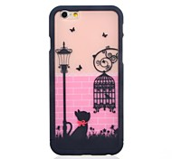 Lovely Cat and Birdcage Pattern 2 in 1 Detachable Hard Case for iPhone 6