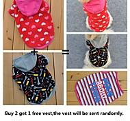 Buy 2 Get 1 camicia libera, un pacchetto di 2 cani hoddies pile diverse vendite del gruppo modello per cani da compagnia (formati assortiti)